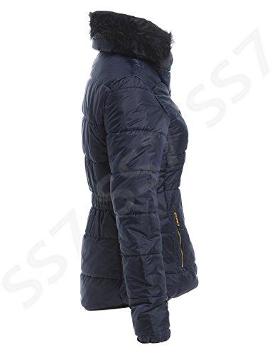 8 Navy blue 14 Winter SS7 Sizes Women's Jacket to Padded qn6wwTXvx