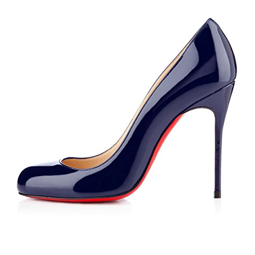 Escarpins Aiguille Ubeauty Femmes Rond Grande Stiletto Bout Taille Bleu Chaussures Talon FPqwP0d
