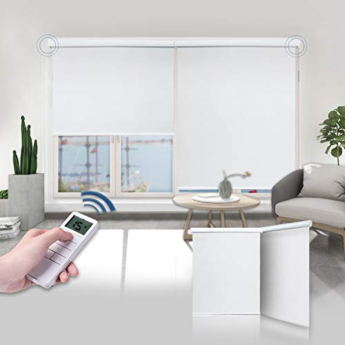 Motorized Shades Motorized Blackout Shades Roller Shades Blackout Blinds for Smart Home and Office 35×72, White