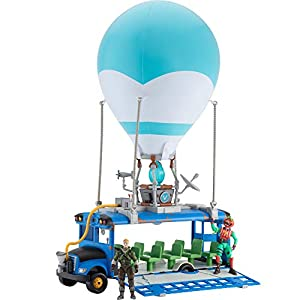 Best Epic Trends 41KTRpU0a4L._SS300_ Fortnite Battle Bus Deluxe - Features Inflatable Balloon with Lights & Sounds, Free-Rolling Wheels on Bus - Includes 4…