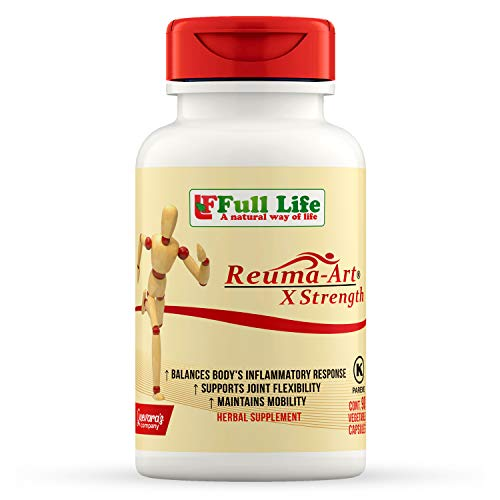 Full Life Reuma-Art X Strength - 90 Veggie Capsules - Extra Strength & Fast Acting Anti-Inflammatory - Joint Pain Relief Supplement (Best Otc Anti Inflammatory Medicine)