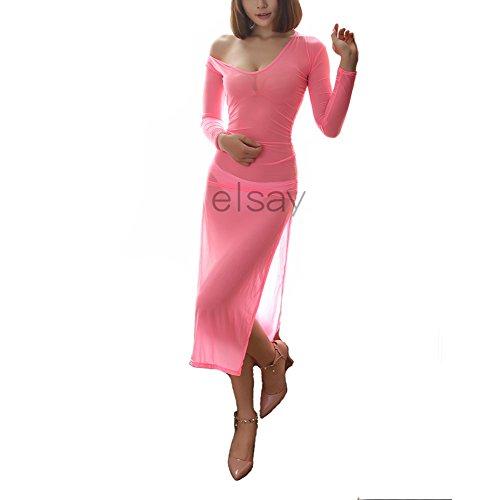Las mujeres falda larga, ver a través de Lingerie Rose