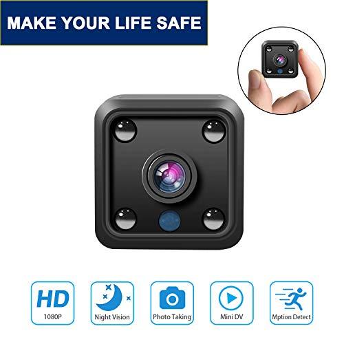 Mini Spy Camera Wireless Hidden WiFi Camera HD 1080P Mini Camera Small Home Spy Security Camera Covert Nanny Cam Indoor Video Recorder Motion Activated/Night Vision