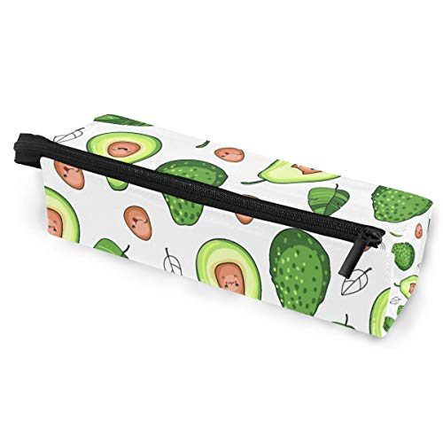 Pen Case Pencil Bag Sunglasses Cartoon Green Avocado Cute Monster Holder Cosmetic Pouch with Zipper Compartments
