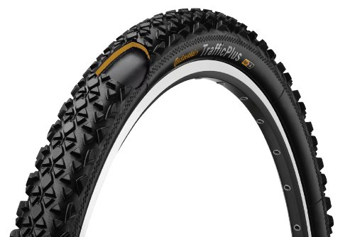 Continental Traffic Bike Tire, Black, 26 in X 2.1
