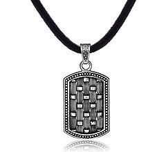 N09 Halskette Anhänger Herren Edelstahl THORS HAMMER mit Lederkette Necklace Men