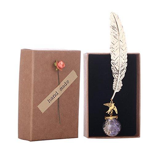 Fancy Space Bookmark Vintage Animal Preserved Fresh Flower (Gypsophila)