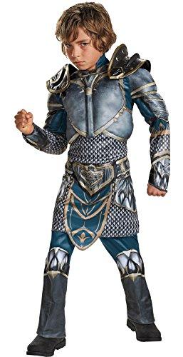 UHC Lothar Warcraft Boy's Muscle Jumpsuit Torso Arms Halloween Costume, Tween (12-14) ()
