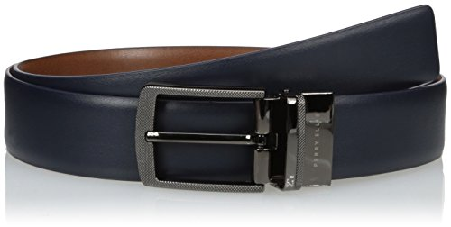 Perry Ellis Men's Perry Ellis Portfolio Men's First Navy Reversible Belt, Navy, 36