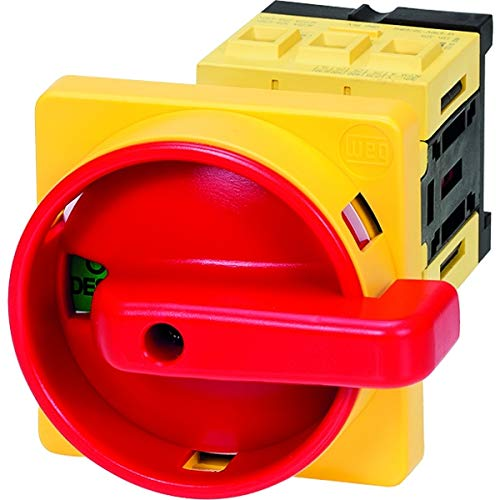WEG Electric (MSW 25 P-3 H), Non-Fusible Disconnect Switch (Includes Handle Red/Yellow), Door Mount, 3 Pole, 32 Amps
