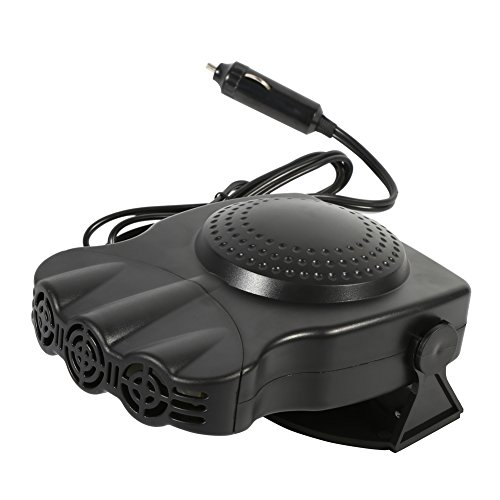 Car Demister Defroster, 3 Wide Outlet 12V 150W 2 in 1 Portable Car Vehicle Heater Heating Cool Fan Windscreen Demister Defroster with 180 Degree Rotary Holder for Easy Snow Removal Winter