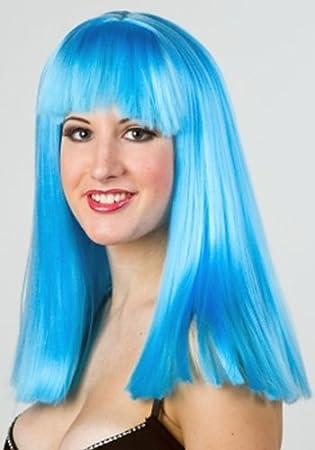 Chicas Pony: azul larga peluca de pelo