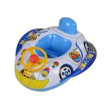 QYP Espesado de volante de dibujos animados bebé silla bebé asiento barcos flotador inflable de la natación: Amazon.es: Deportes y aire libre