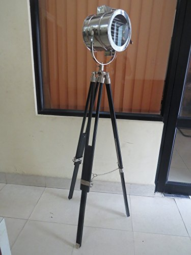 British Royal Master Stainless Steel Wood Tripod Floor