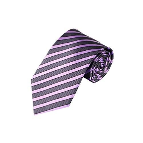 (Floralby Striped Men's Silk Neckties Wedding Business Neckties Suit Accessory Gift)