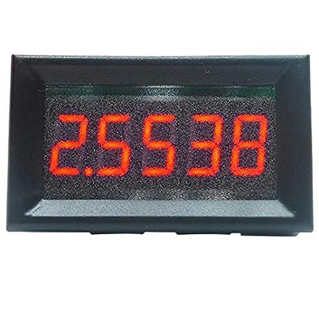SODIAL 0.56 Pulgadas 0-50.0000Ma Led 5 Bits de Alta Precisión Digital Amm Eter Panel Medidor de Corriente Probador Probador Detector: Amazon.es: Bricolaje y ...