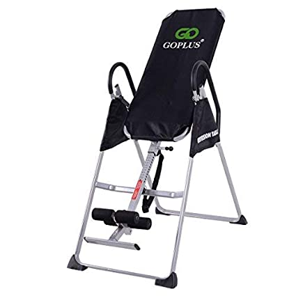 Goplus Gravity Fitness Therapy Inversion Table Adjustable Folding Back Therapy Table Reflexology (Inversion Table)