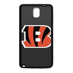 Resistant Dual Protection Phone Case for Samsung N3Black Custom Cincinnati Bengals Diseño