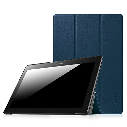 Fintie Lenovo Tab 10 SlimShell Case - Ultra Light Weight Stand Cover for Lenovo TB-X103F Tab 10 / Tab 3 10.1 (TB3-X70F) / Tab2 A1010.1-Inch Tablet, Navy