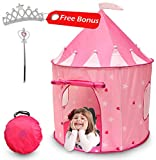 Kiddey Princess Castle Play Tent (Pink) - With Glow in the Dark Stars – Indoor/Outdoor Playhouse for Girls, With Carry Case for Easy Travel and Storage. Great Gift Idea