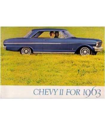 1963 Chevrolet Chevy Il Sales Brochure Literature Book Piece Specs Options