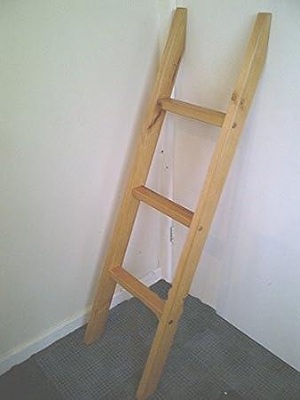 Bunkbed Ladder Pine Bunk Bed Slanted Ladder Solid Pine Amazon Co Uk Kitchen Home