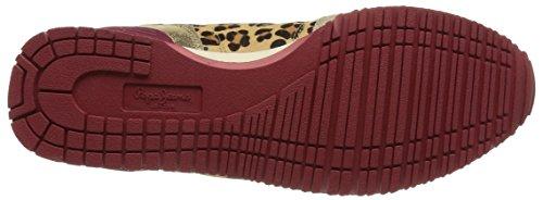 Pepe Jeans GABLE ANIMAL PRINT - zapatilla deportiva de cuero mujer marrón - Braun (848BARE)