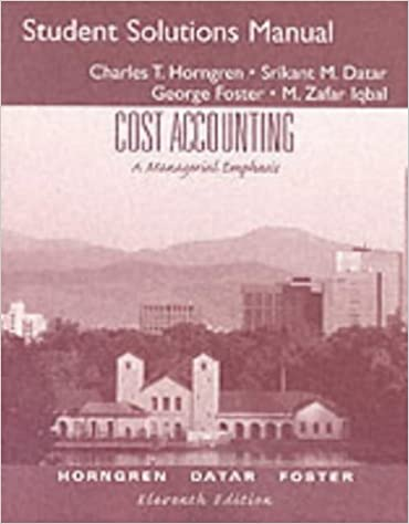 Cost accounting a managerial emphasis student solution manual cost accounting a managerial emphasis student solution manual 11th edition fandeluxe Images