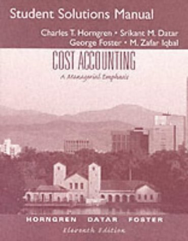 managerial accounting 2nd canadian edition solution manual