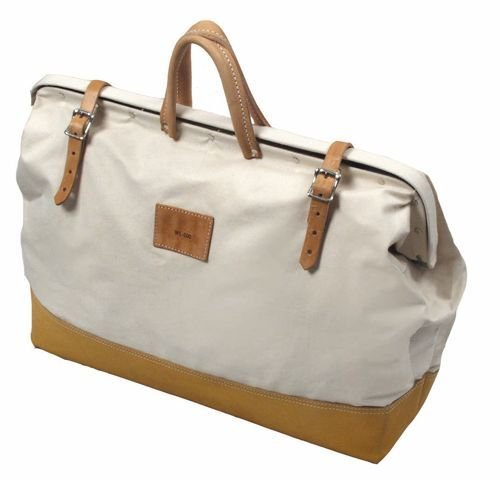 Kraft Tool Deluxe Canvas Tool Bag 14'' x 22'' w/Leather Bottom Made in the USA