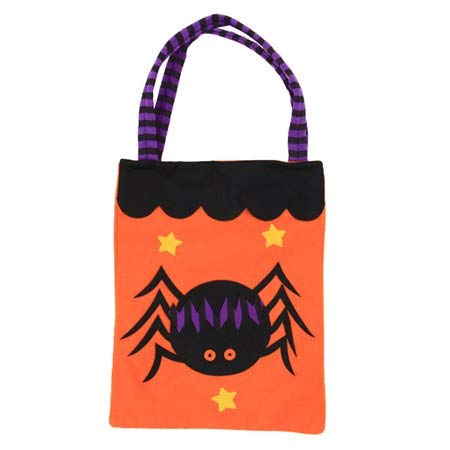 Trick Or Treat - 18x25cm Non Woven Halloween Pumpkin Witches Candy Bag Trick Or Treat Gift Organizer Storage Pouch - Action Soundtrack Dead Poster Movie Hotel Cold Sesame Just Bags Haunted Co -