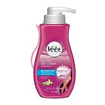Veet Silk & Fresh, Hair Removal Gel/Cream, Legs & Body, Sensitive Formula, 400 ml