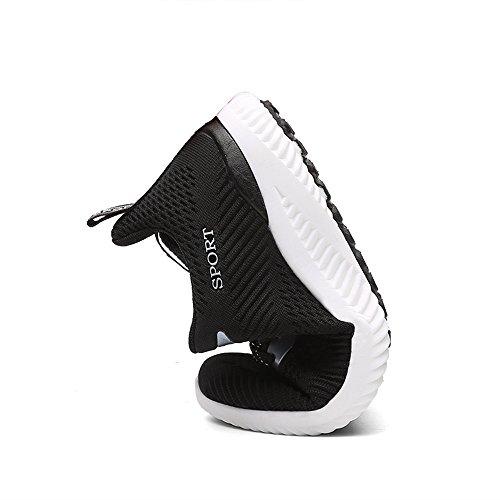 Un Autre Été Léger Chaussures De Course De Route En Tricot Unisexe Noir