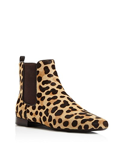 Tory Burch Orsay Bootie Ankle Boots, Leopard Print/Coconut, 5.5 US