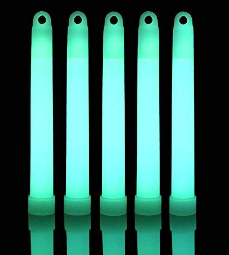 Lumistick 6 Inch Glow Sticks Chem Lights with Flat Bottom | Premium Industrial Grade Glowstick Rods 15mm | NonToxic Great for Events, Parties, Camping