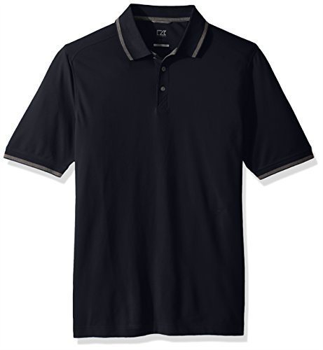 Cutter & Buck Men's 35+ UPF Lightweight Cotton Advantage Tipped Polo Shirt, Liberty Navy X-Large