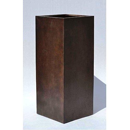 木目調 鉢カバー ポット 【クアドラ H100cm】 樹脂製 B07BNKWNX8   クアドラ型/H100cm