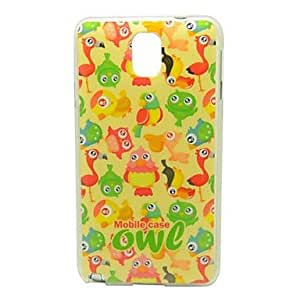 RC - Lovely Owls Pattern IMD Craft Smooth TPU Case for Samsung Galaxy Note 3 N9000