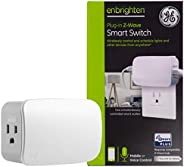 GE Enbrighten Z-Wave Plus Smart Switch Plug-In, 2 Simultaneously Controlled Z-Wave Outlets, Works with Alexa,