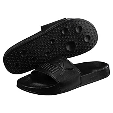 PUMA Leadcat Unisex Fashion Sandals, PUMA Black-PUMA Black, 8 US