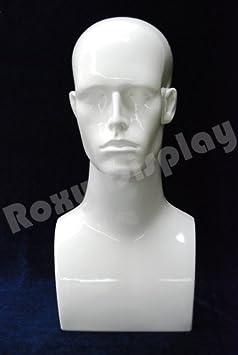 Grey Plastic PS-ERAG-PS ROXYDISPLAY/™ 17 Tall Male Mannequin Head