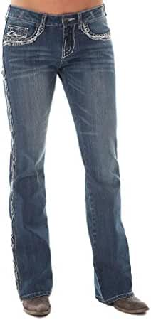 Cowgirl Tuff Western Denim Jeans Womens Show It Off ll Med JSHWII