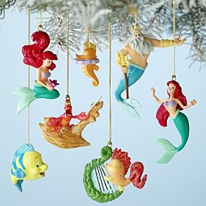 Disney 39 s the little mermaid storybook ornament for Ariel christmas decoration
