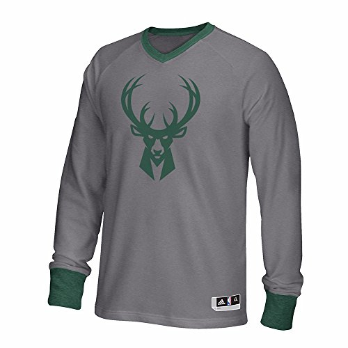 Milwaukee Bucks NBA Adidas Grey 2016 Authentic On-Court Christmas Day Shooter Shirt For Men – Sports Center Store