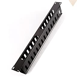 HAMSWAN 1U 19 Inch Rack Mount Horizontal Cable Management 15 slots- Finger Duct with Cover