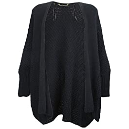 Ex-Store Maternity Waffle Knit Batwing Cardigan Navy Blue