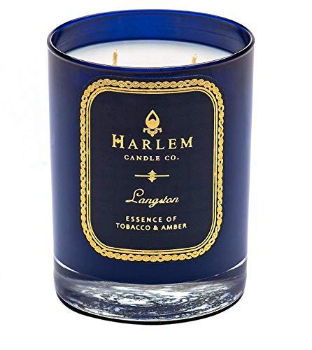 - Harlem Candle Company Langston Luxury Candle, 12 oz Jar Candle, Double Wick