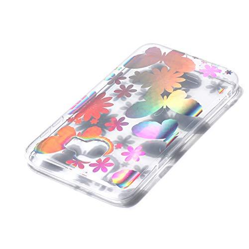 Coques Silicone 2018 2018 Samsung Fleur Papillon Galaxy Papillon avec 3d de Etui J4 J4 Samsung Coque Coque Motif Transparent de Transparent Galaxy Paillette 2018 Bling Herbests Coque Samsung Galaxy J4 Brillant qvznYBz7