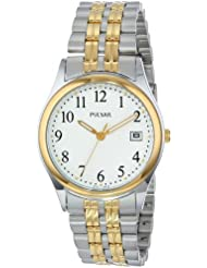 Pulsar Mens PXH448 Dress Two-Tone Stainless Steel Watch