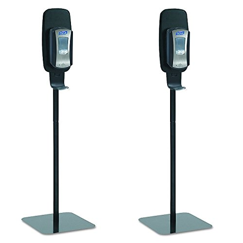 PURELL 2425-DS LTX or TFX Touch-Free Hand Sanitizer Dispenser Floor Stand, Black, 16 3/5w x 5 29/100d x 23 3/4h (Pack of 2) by Purell